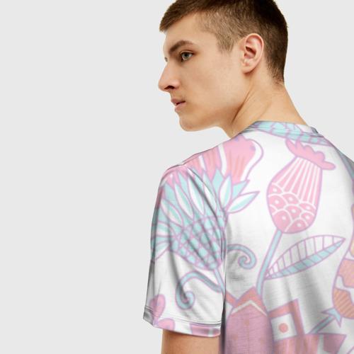 Мужская футболка 3D Nikol Flowers Фото 01