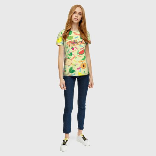 Женская футболка 3D Nikol Fruits boom! Фото 01