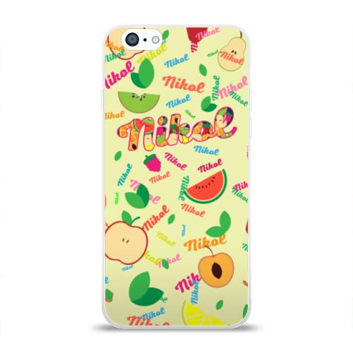 Чехол для Apple iPhone 6 силиконовый глянцевый  Фото 01, Nikol Fruits boom!
