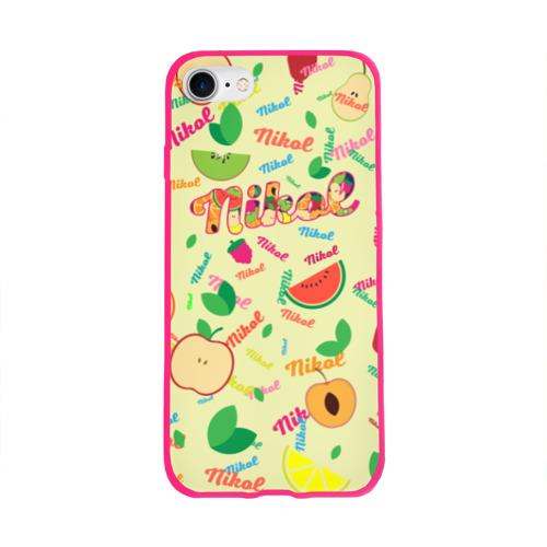 Чехол для Apple iPhone 8 силиконовый глянцевый Nikol Fruits boom! Фото 01
