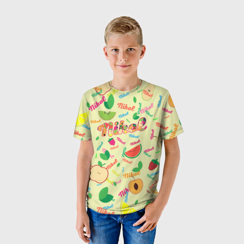 Детская футболка 3D Nikol Fruits boom!