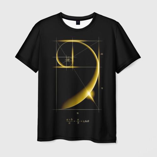 Мужская футболка 3D Золотое сечение Фото 01