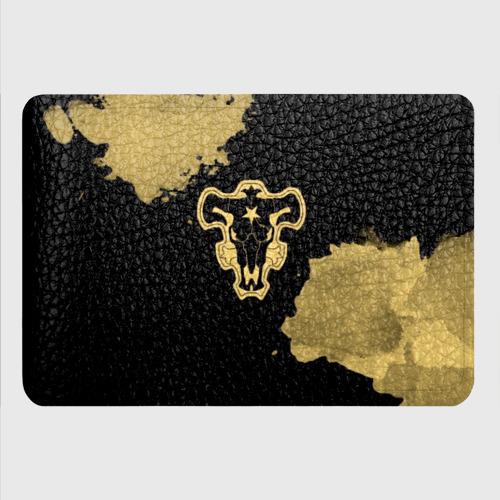 Картхолдер с принтом Чёрный Бык с золотистыми пятнами Фото 01