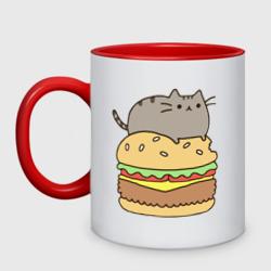 Кот на бургере