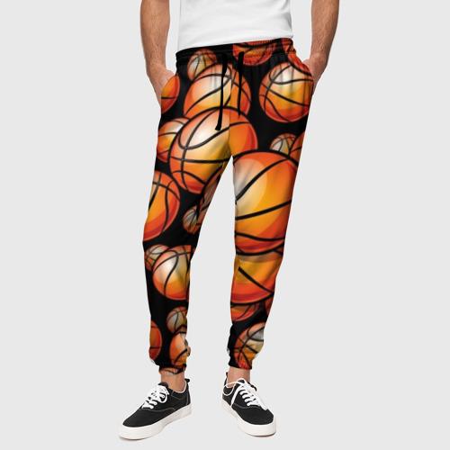 Мужские брюки 3D Баскетбольные мячи Фото 01