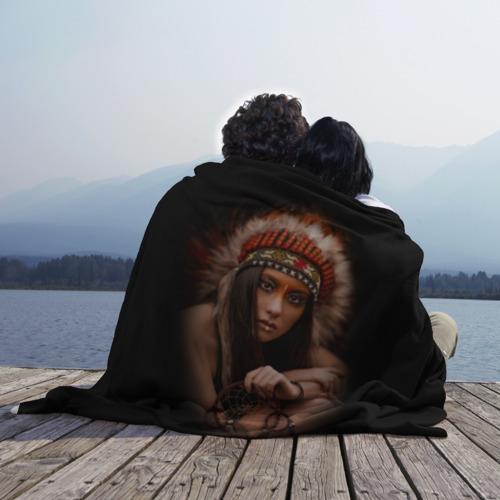 Плед 3D  Фото 02, Индейская девушка