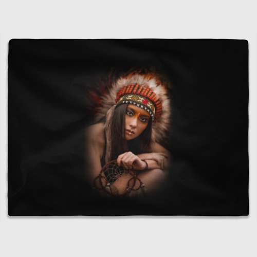 Плед 3D  Фото 03, Индейская девушка