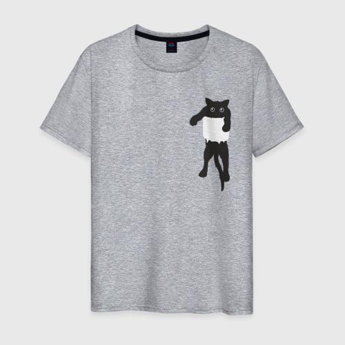 Мужская футболка хлопок Кися в кармане Фото 01