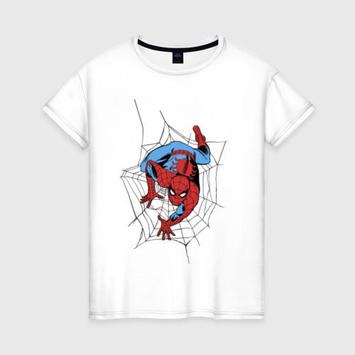 Женская футболка хлопок Spider-man comics