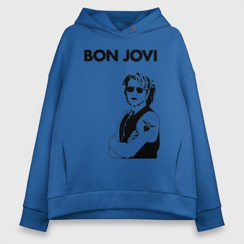 Женское худи Oversize хлопок Bon Jovi Фото 01