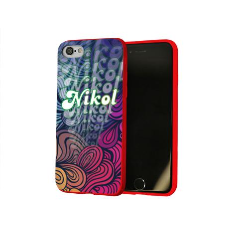 Чехол для Apple iPhone 8 силиконовый глянцевый Nikol Absract Фото 01