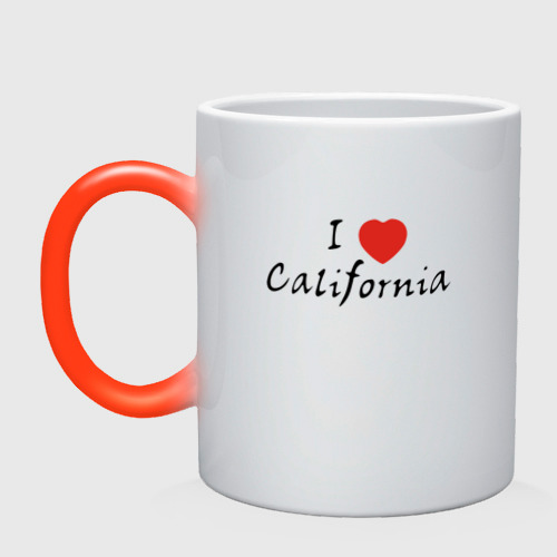 Кружка хамелеон I Love California