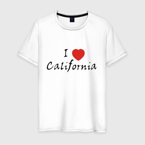 Мужская футболка хлопок I Love California