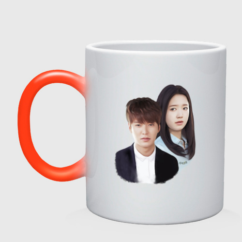 Кружка хамелеон Kim Tan and Cha Eun Sang