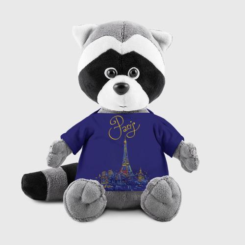 Енотик в футболке 3D Париж Фото 01