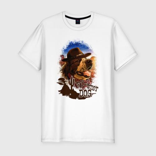 Мужская футболка премиум Булат на Диком западе