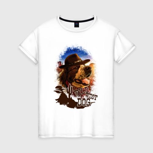 Женская футболка хлопок Булат на Диком западе