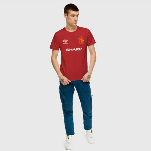 Мужская футболка хлопок Эрик Кантона Ретро Фото 01