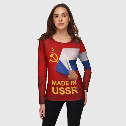 Женский лонгслив 3D MADE IN USSR Фото 01