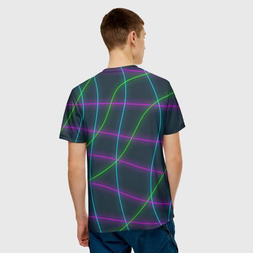 Мужская футболка 3D  Фото 02, Неоновые нити