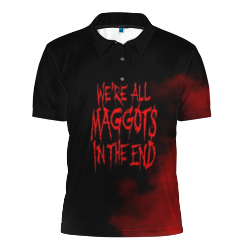 Мужская рубашка поло 3D  Фото 01, Maggots - Slipknot