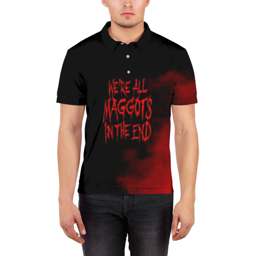 Мужская рубашка поло 3D  Фото 03, Maggots - Slipknot
