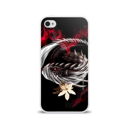 Чехол для Apple iPhone 4/4S силиконовый глянцевый Дракон Фото 01