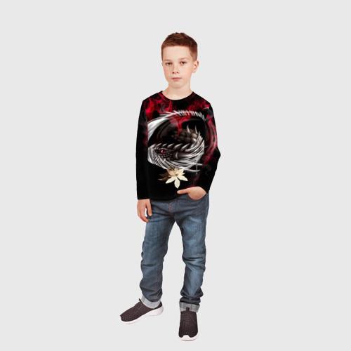 Детский лонгслив 3D Дракон Фото 01