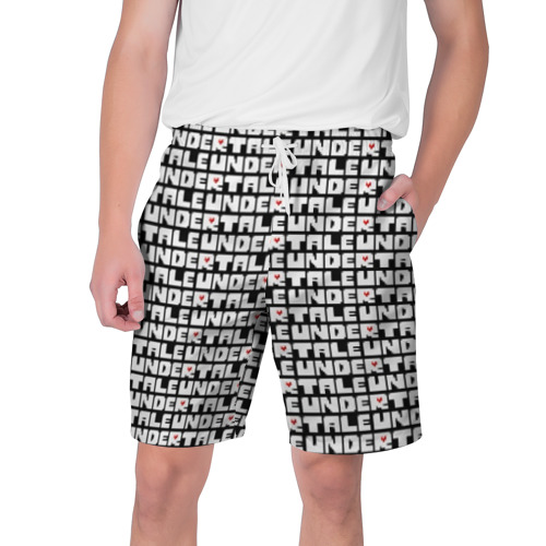Мужские шорты 3D Undertale pattern (White).