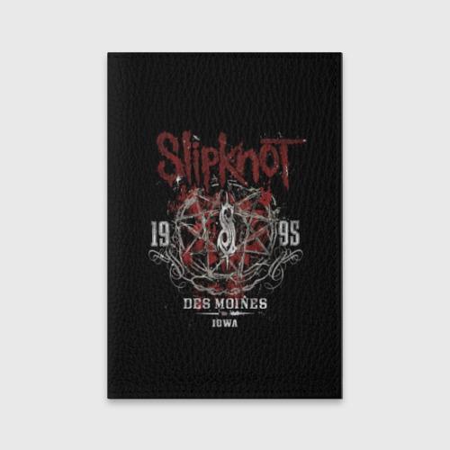 Обложка для паспорта матовая кожа Slipknot Фото 01