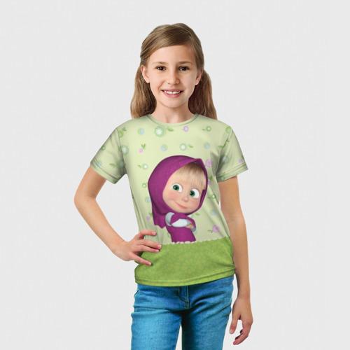 Детская футболка 3D  Фото 03, Маша
