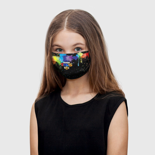 Детская маска (+5 фильтров) Brawl Stars. One фото
