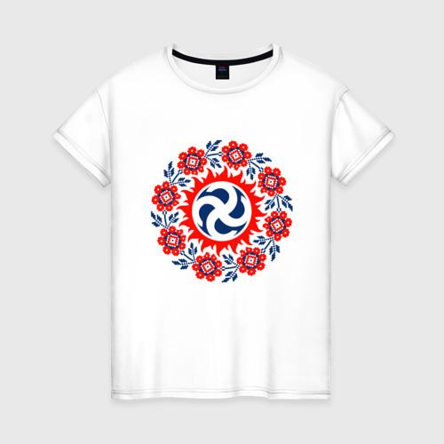 Женская футболка хлопок Славянский Символ 1