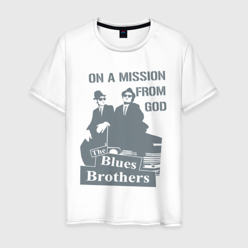 Мужская футболка хлопок Братья Блюз Фото 01
