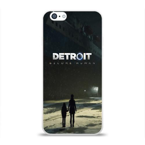Чехол для Apple iPhone 6 силиконовый глянцевый DETROIT:BECOME HUMAN Фото 01
