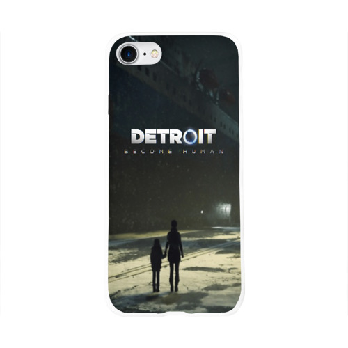 Чехол для Apple iPhone 8 силиконовый глянцевый DETROIT:BECOME HUMAN Фото 01