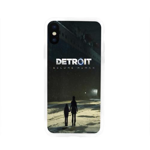 Чехол для Apple iPhone X силиконовый глянцевый DETROIT:BECOME HUMAN Фото 01