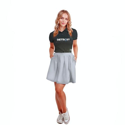 Женская рубашка поло 3D DETROIT:BECOME HUMAN Фото 01