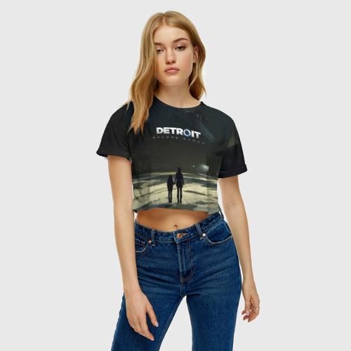 Женская футболка Crop-top 3D DETROIT:BECOME HUMAN Фото 01