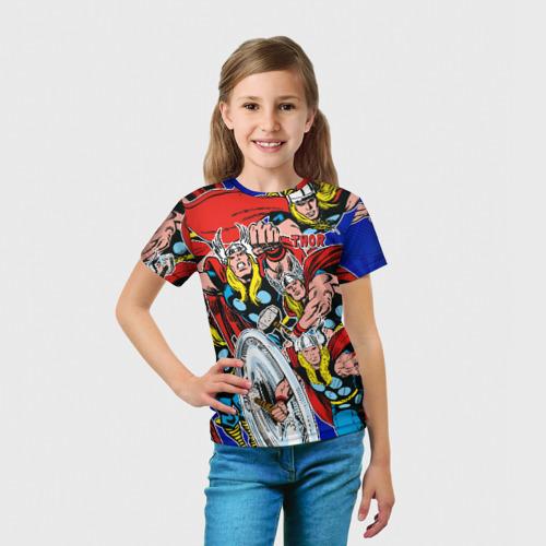 Детская футболка 3D  Фото 03, Thor
