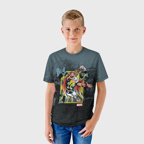 Детская футболка 3D  Фото 01, Молот Тора