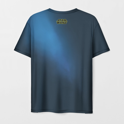 Мужская футболка 3D Синий световой меч Фото 01
