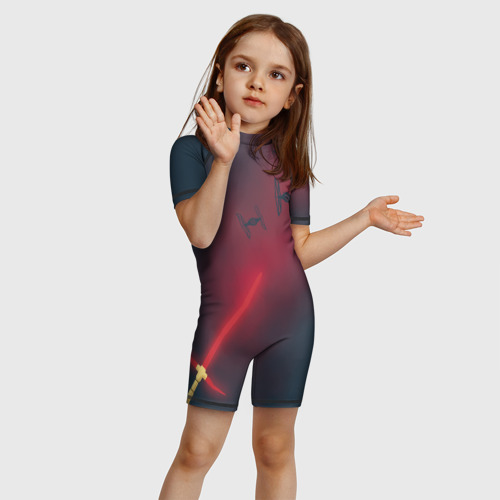 Детский купальный костюм 3D Световой меч Кайло Рена Фото 01