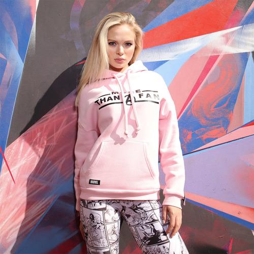 Женская толстовка Марвел More than a fan Limited pink Фото 01