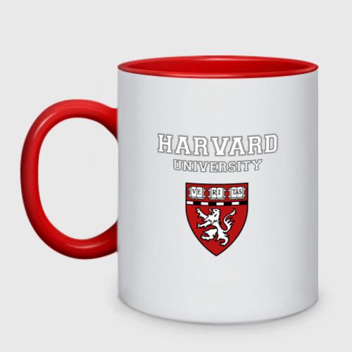 Кружка двухцветная Harvard University_форма