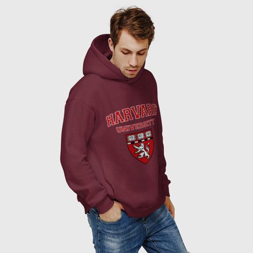 Мужское худи Oversize хлопок Harvard University_форма Фото 01