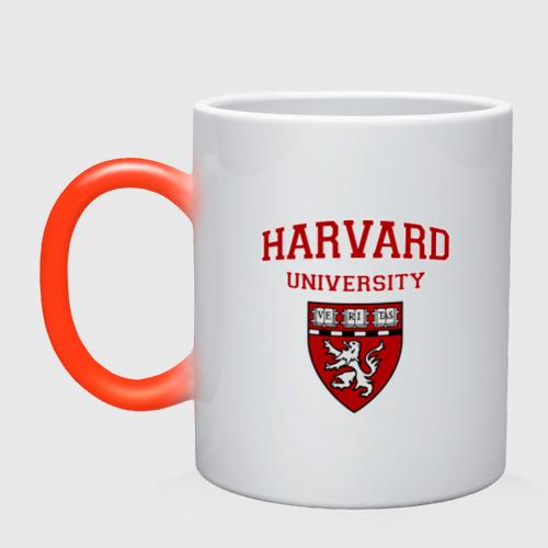 Кружка хамелеон Harvard University_форма