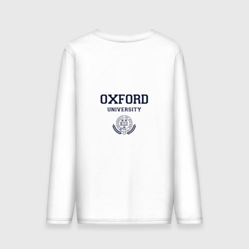 Мужской лонгслив хлопок University of Oxford_девиз Фото 01