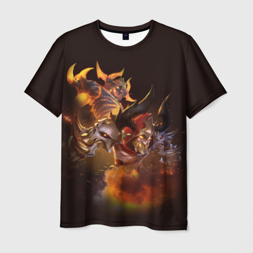 Мужская футболка 3D Одержимый пламенем