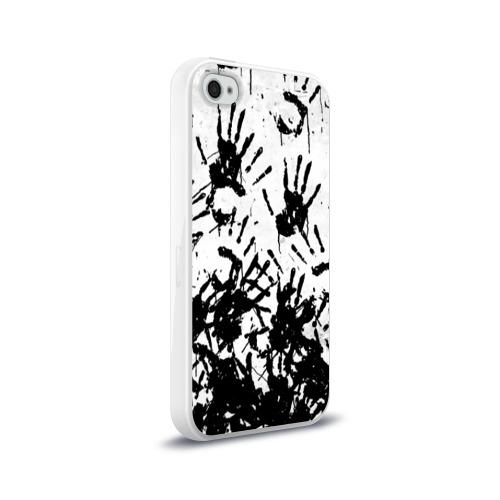 Чехол для Apple iPhone 4/4S силиконовый глянцевый Отпечатки - DEATH STRANDING Фото 01